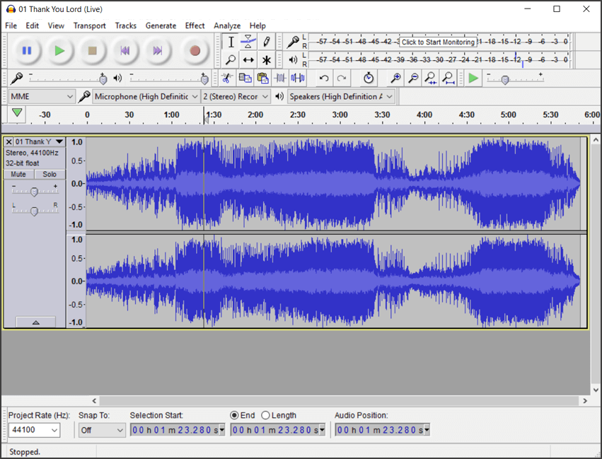 Audacity audio Editor Comparison to Song Surgeon Version 5