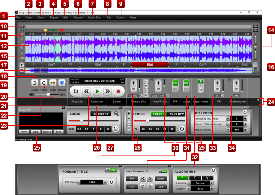 Song Surgeon Version 5 User Guide for Mac (OSx) and Windows